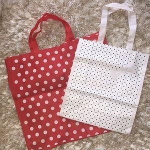 Set of New polka dots tote bags 3/$10